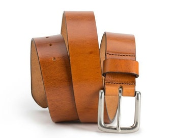 Brothers Leather Belt (light Brown)