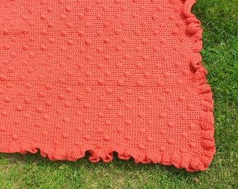 Crochet Baby Blanket | Coral Bobble Blanket