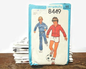 Vintage Simplicity Sewing Pattern 8449 - Boys' Unlined Jacket with or without Hood, Pants & Shorts - Size 10 -1977- children's,kids',clothes