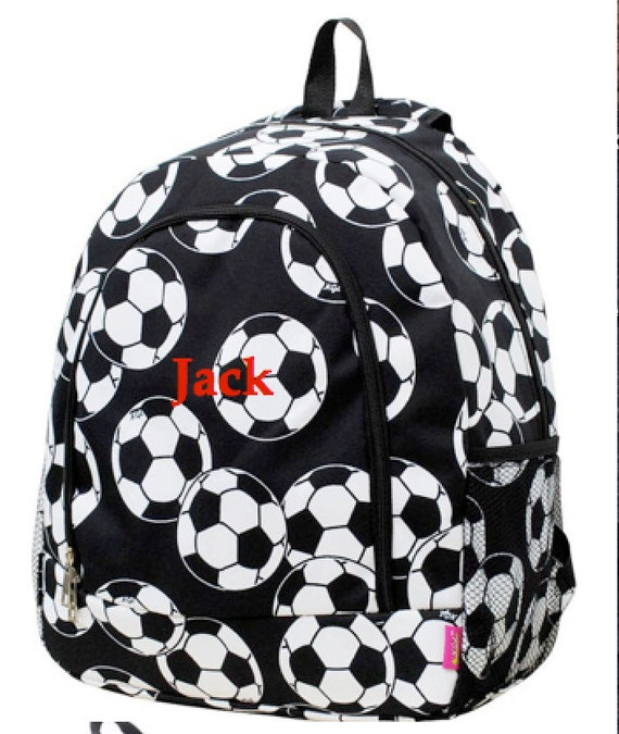 Boys Backpack Personalized Soccer Backpack Monogrammed