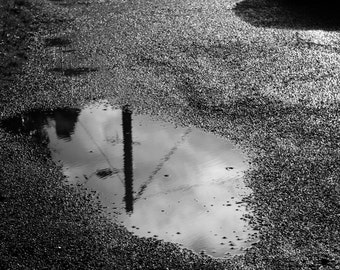 Black and white puddle photography (poster)