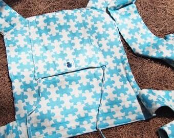 Mei Tai - Daiesu Jigsaw Ocean - Mei Tai Baby Carrier - Baby Wrap - Woven Baby Wrap - Baby Carrier - Wrap Conversion Mei Tai