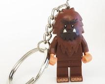LEGO® Minifigure Bigfoot Sasquatch / Zipper pull / Keychain / Phone plug / Backpack  / Key ring / Ornament / Big foot