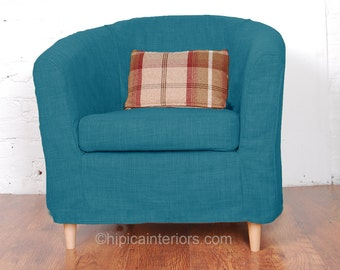 Charming Argos Colour Match Tub Chair Slip Cover In Cotton Choice Of 22 Colours