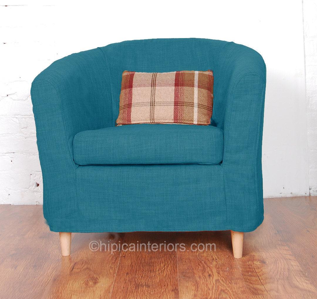 Argos colour match tub chair slip cover in cotton choice of 22 for Chair cushion covers argos