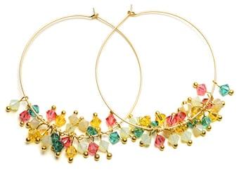 Gold Creoles Fruity - Hoop earrings