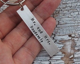 Personalized Keychain, Boyfriend Keychain, for Man, husband keychain, Hand Stamped gifts,best friend gifts,wedding anniversary keychain
