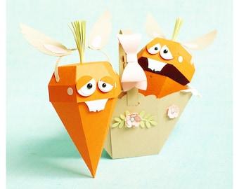 """plotterdateien - gift set """"basket with carrot"""" v2"""
