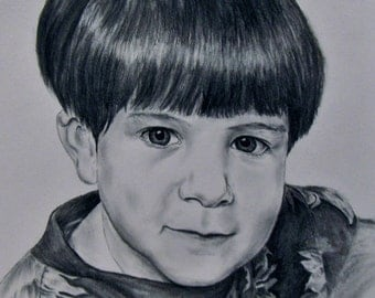 Custom made charcoal drawing-8x10-EXAMPLE ONLY