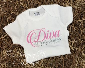 Baby Onesie®, Diva in Training, Baby Girl Onesie, Baby Bodysuits, Cute Baby Clothes, Cute Baby Onesie, Baby Romper, Newborn Baby Shower Gift