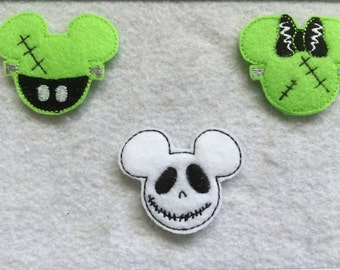 Halloween Mouse Frankenstein Boy or Girl , and Jack Mouse , Your choice  and always precut