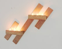 Mahogany candle holder,Wall Mounted Candle Holders, Wooden Wall Sconces,Hanging tea ligt holders,modern decor,rustic style