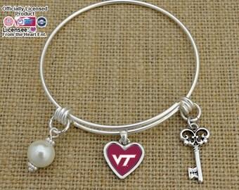 Virginia Tech Hokies Memory Wire Bracelet