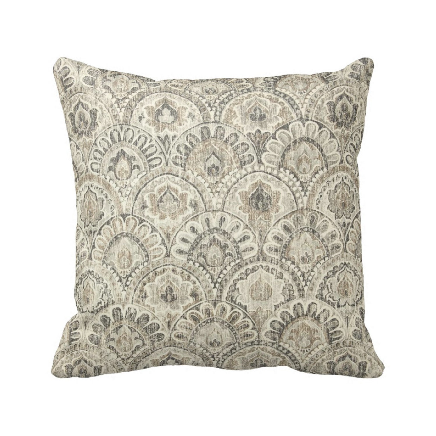 How To Make Zippered Throw Pillow Covers : Via Beech Zippered Throw Pillow Cover by Primal Vogue