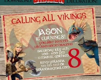 How to Train your Dragon 2 Invitation! Custom item! Printable invite! Digital download!