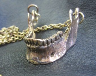 Human Jaw Bone Pendant