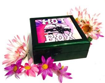 Stoner Gift Secret Stash Box / Gift for Stoners / Green Wooden Keepsake Box Hot Box / Weed Gifts