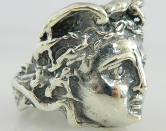 Beautiful Vintage Sterling Silver Art Nouveau Ring
