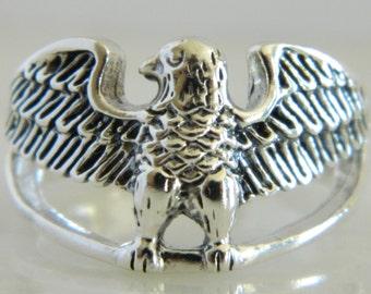Wonderful Vintage Sterling Silver Eagle Ring size 10.5