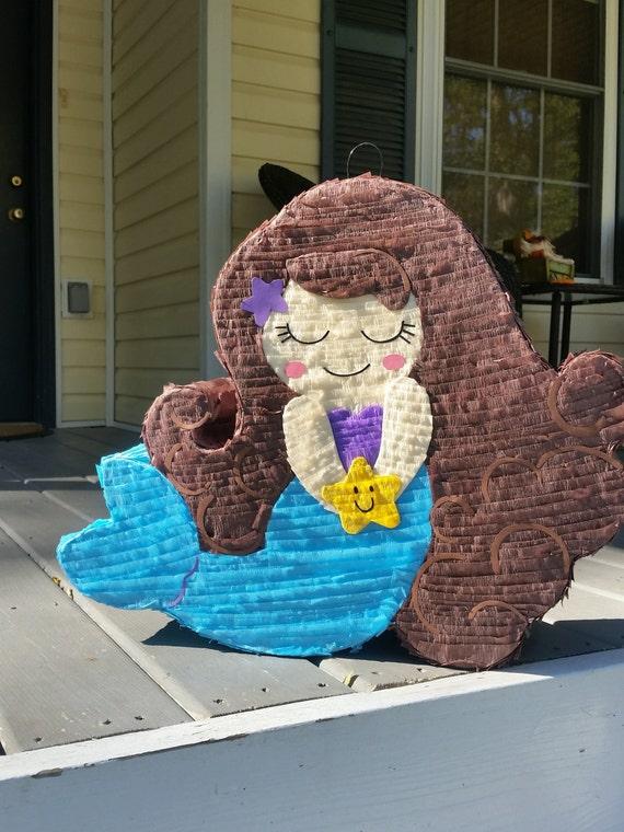 Mermaid pinata mermaid birthday mermaid party for Decoration pinata