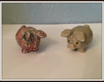 Pig Spirit Animal ~ Altar Accessory ~ Spell Aid ~ Familiar ~ Dolomite Statue ~ Wicca ~ Witch ~ Pagan ~ Fertility ~ Honesty ~ Totem Animal