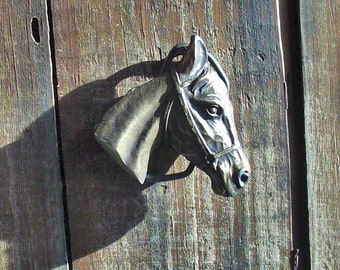 Vintage Brass Horsehead Belt Buckle / Lovely Image /