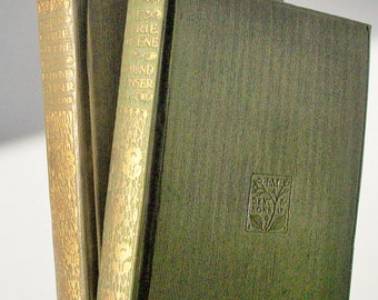 Faerie Queene by Edmund Spenser / 2 Gilt Volumes / Everymans Library / Good Condition