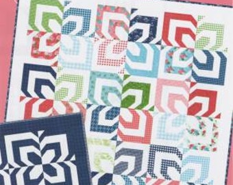 """Kaleidoscope quilt pattern by Lella Boutique #135 jelly roll friendly 70"""" by 70"""" in stock and ready to ship"""