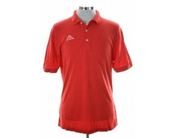 Kappa Mens Polo Shirt XXL Red Cotton