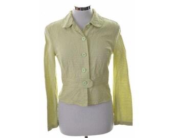 Armani Womens Blazer Jacket Size 12 Medium Green Cotton