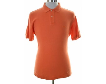 Fila Mens Polo Shirt Small Orange Cotton