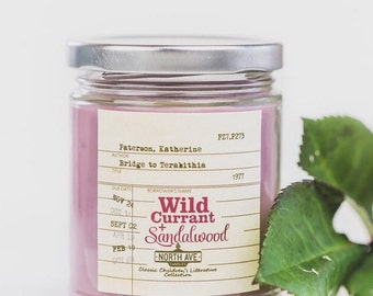 Wild Currant + Sandalwood / Inspired by Bridge to Terabithia / Literary Candle / Book Gift / Book Themed Candle / Book Candles