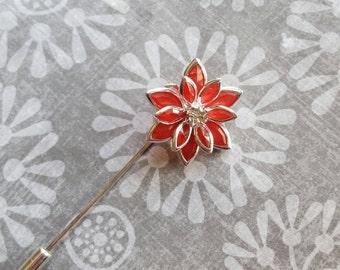 Red Hijab Pin, Scarf Pin, Hijab Accessory, Bridal Hijab, Hat Pin, Lapel Pin, Stick Pin, Eid Gift, Ramadan Gift, Hijabi Gift, Muslim Gift