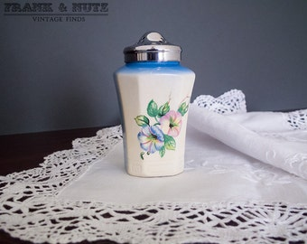 Vintage salt shaker, antique china, porcelain,romantic kitchen decor,20's, retro