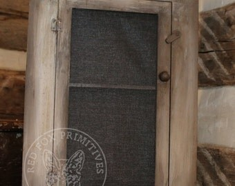 Colonial Pie Safe- Primitive/Vintage/Rustic Pie Safe