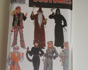 Star wars / Wizard / Grim Reaper / Cat / hippy costumes halloween sewing pattern, chest bust 30 32 34 36 38 40 42 44 46 48, Simplicity 5916