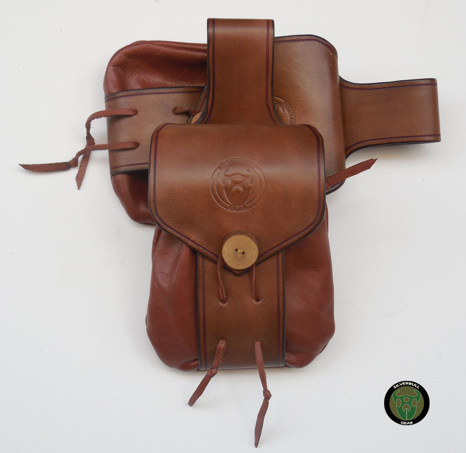 handmade bushcraft accessories leather belt by silverbullgear