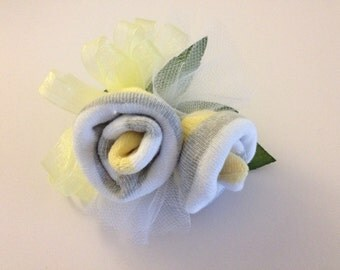 Baby shower one pair baby sock wrist or pin on corsage Baby Shower Gift Baby Shower Decor
