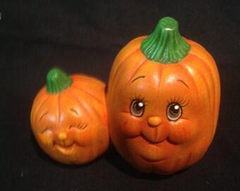 Ceramic pumpkin,Halloween,fall,autum,decoration