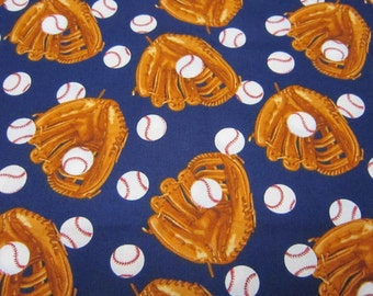Timeless Treasures Navy Baseball Cotton Fabric Designed by George McCartney