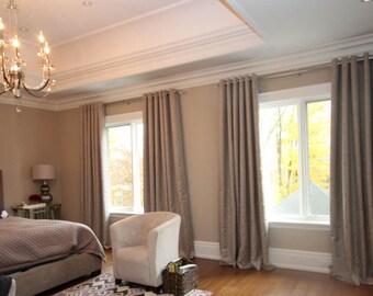 """Custom Drapes """"Mondovi"""", lace patterned drapes, Grommet Panels, Drapery Panels, Made-to-Order"""