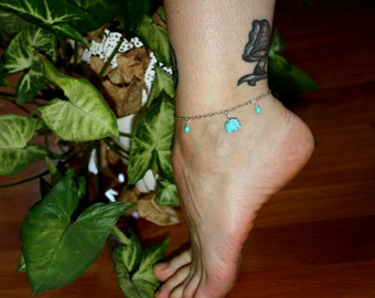 Anklets small elephant ankle bracelet