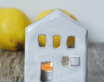 Ceramic candle holder, Ceramic house