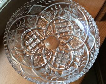 Lead crystal dish