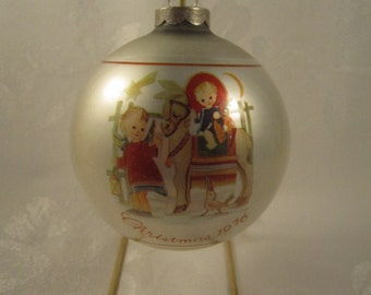 1976 Christmas Ornament, Sacred Journey, Third in Series, Limited Edition, Schmid Bros.