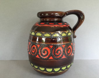 Scheurich  484 - 30 stunning  vintage Fat Lava vase Mid Century Modernist West German Pottery  made in the 1970s