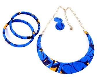African Print Statement Design Necklaces