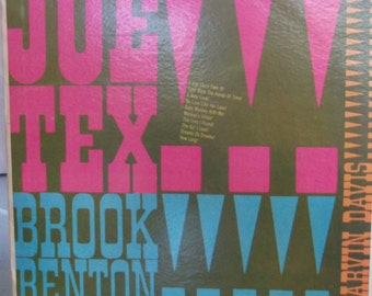 Joe Tex, Brook Benton, Marvin Davis, Vintage Record Album, Vinyl LP, Spotlight Series, Southern Soul, Rhythm and Blues, Soul Music
