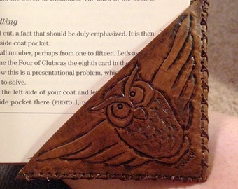 Hand Made Custom Leather Bookmark