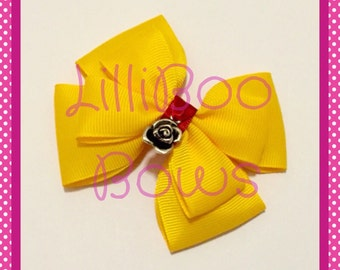 Handmade Belle Beauty and the Beast Inspired Hair Bow